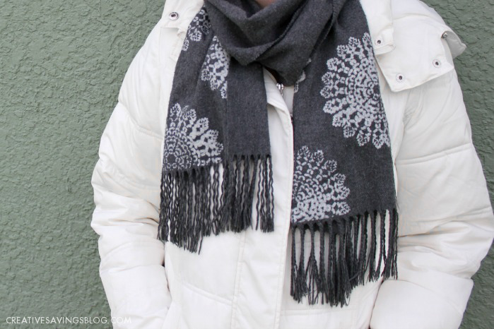 Stenciled Scarf Makeover | Creative Savings