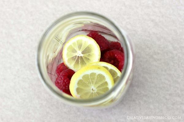 Raspberry Lemon Water | Creative Savings