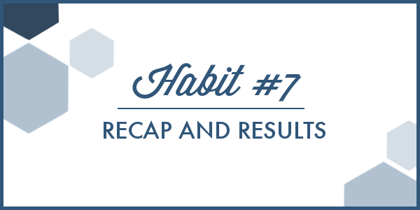 I'm pretty sure Habit #7 has been the hardest habit I've tackled yet, but I also learned exactly how much water my body really needs. There were also a few unexpected perks to staying hydrated that I had NO idea would happen!
