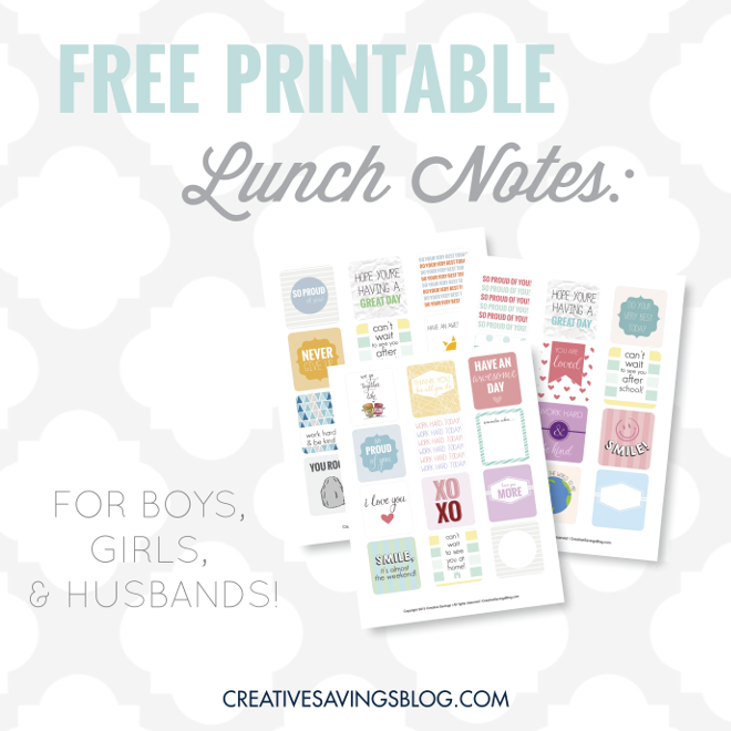 photograph about Free Printable Lunchbox Notes for Husband titled Totally free Printable Lunch Notes Lunch Notes for Youngsters