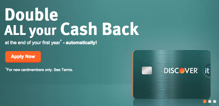 Double Cash Back at Discover