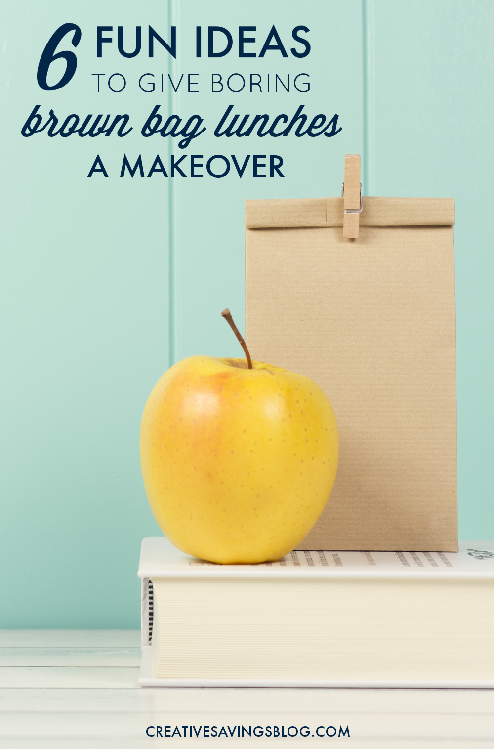 Bagged lunches don't have to be boring! Use these 6 brown bag lunch ideas to kick your lunch up a notch, and give school-aged kiddos food that makes them smile. They will love helping out with #4!
