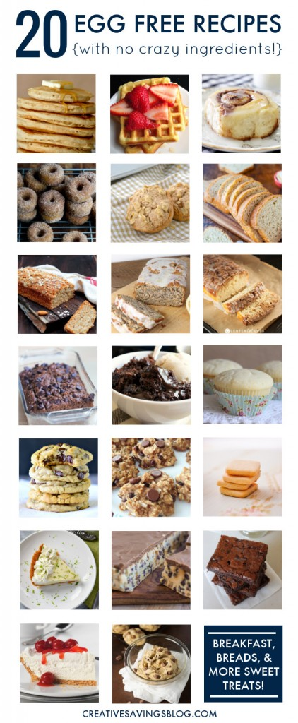 With the price of eggs at an all-time high, this baking staple can wreak havoc on your grocery bill if you're not careful. These 20 egg free recipes help you temporarily cut back on eggs, taste delicious, and use everyday ingredients from your fridge or pantry!