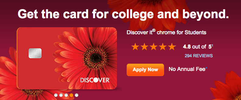 College Student Credit Card by Discover