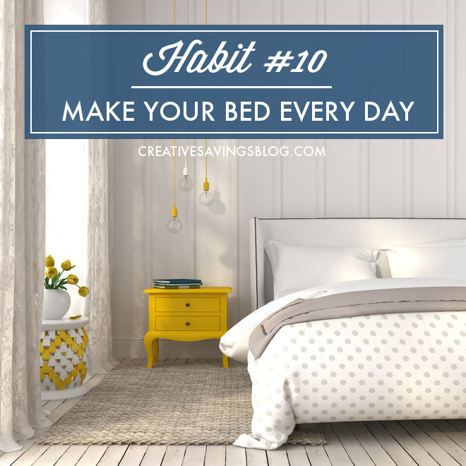 Join this month's mini habit and learn to make your bed every day! You'll not only improve general tidiness, you'll also boost overall productivity with this one simple task. Making your bed gives you that quick win to start your day on the right foot!