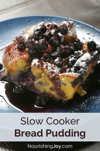 Slow Cooker Bread Pudding