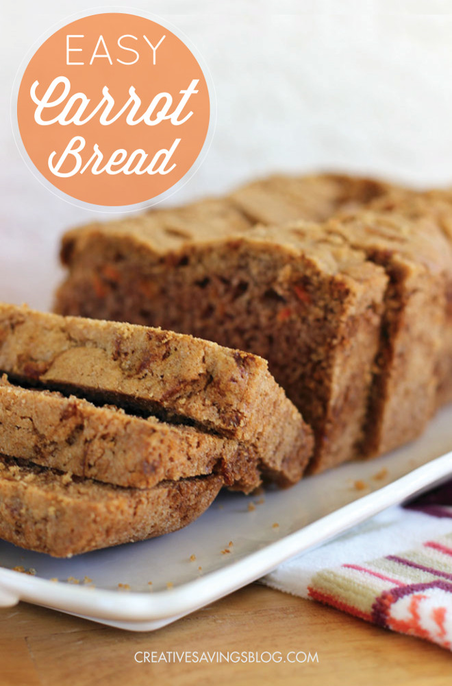 Move over zucchini and banana bread -- this updated twist on the traditional quick bread tastes just like carrot cake without the icing. Make it as a Thanksgiving side dish, or a Saturday afternoon snack. Either way, your whole family will be begging for more carrot bread, and your kitchen will smell absolutely divine!