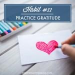 Habit #11: Practice Gratitude