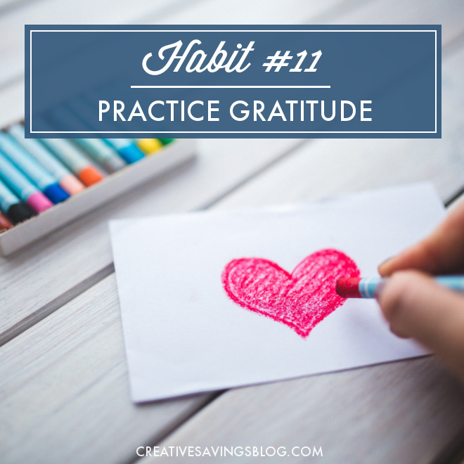Join me in this month's challenge to rediscover gratitude, practice thankfulness, and develop an attitude of appreciation for everything we most often take for granted. This is one habit that will be life-changing, and it only takes 5 minutes a day!