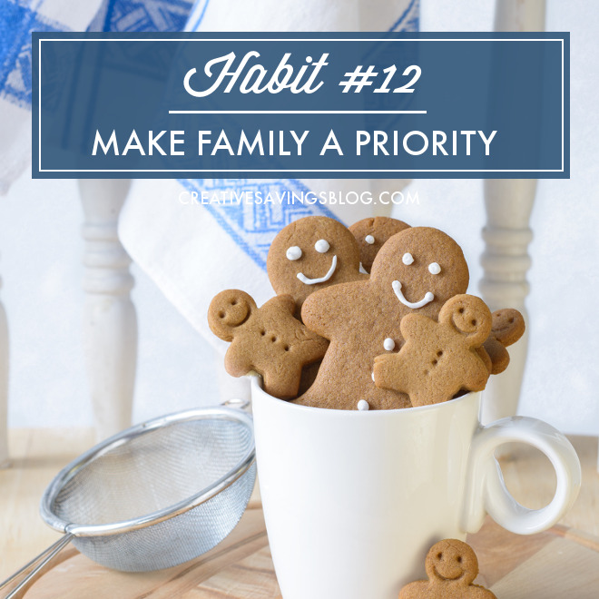 With so many church events, gift exchanges, and cookie swaps going on this time of year, there's little room left for much else, let alone those we care most about. Join me this Holiday season to make family your highest priority, and turn December into a month of joy, rather than stress!