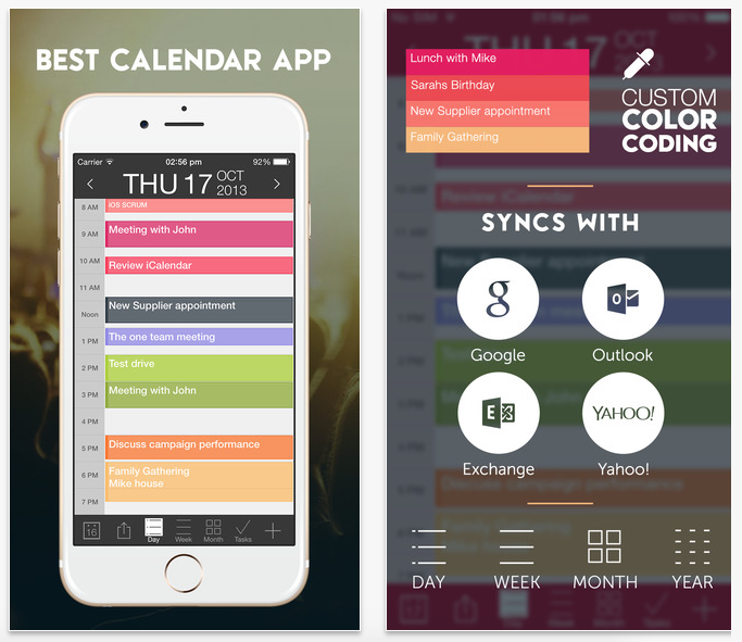 iCalendar App Screenshots