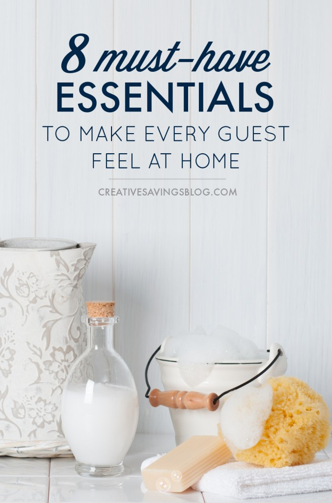 Have out-of-town guests spending the night? There's no need to panic! Just stock these 8 household essentials to make your company feel comfortable and completely at ease. #2 eliminates those awkward bathroom moments!
