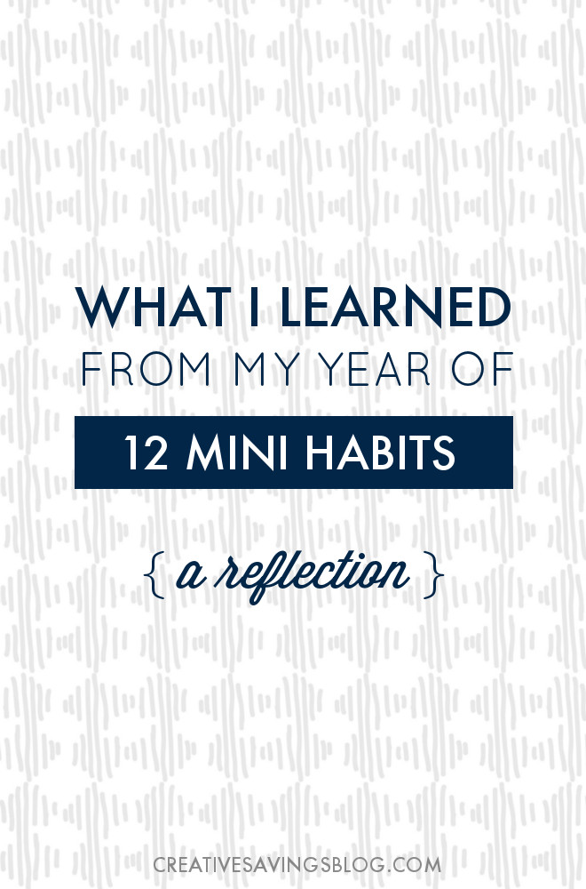 365 Days. 12 Mini Habits. One major AHA moment. Here's everything I learned during my year of intention, and what I really think about lifelong change. I also answer the big question of which mini habits I'm keeping for next year, and which ones I'm finally letting go!