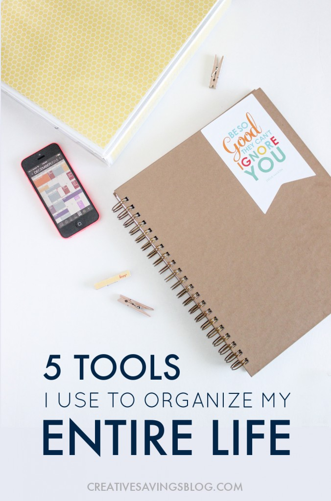 "Have you ever said, ""If only I had the right tools to organize my life?!"" Well now you do! These 5 picks are critical to a well-organized system...for life."
