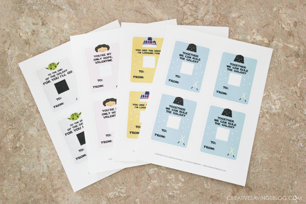 Have a kiddo that geeks out on all things Star Wars? Skip the overpriced boxes at the store, and download these printable Star Wars Valentines instead. Great last minute option that's still cute and creative!