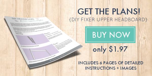 Fixer Upper Headboard Plans