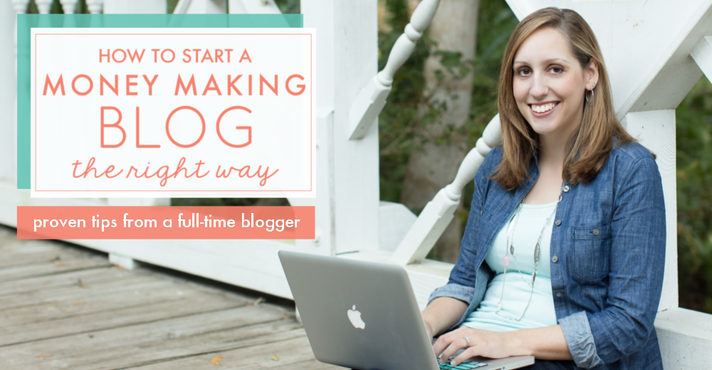 how to start a blog page and make money