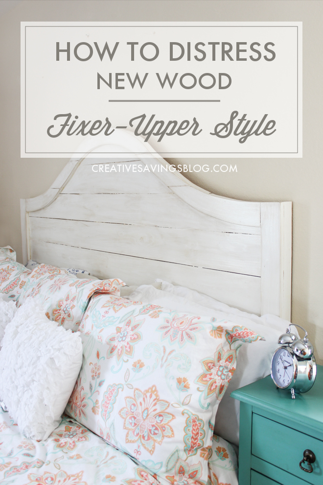 How To Distress New Wood Like Joanna Gaines
