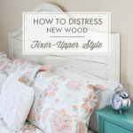 How to Distress New Wood {Fixer Upper Style}