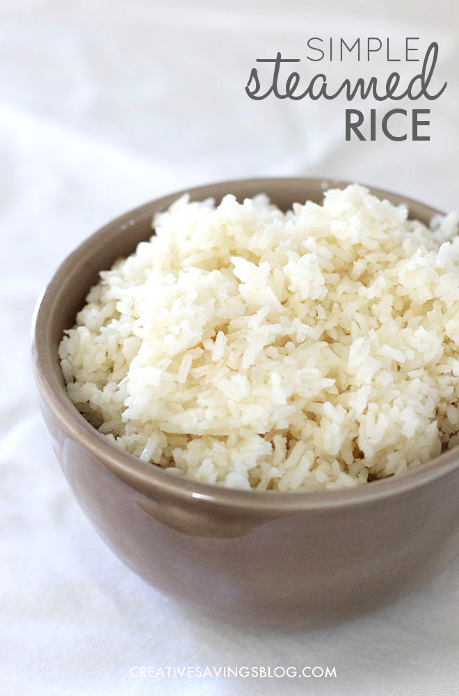 Simple Steamed Rice is a super cheap and filling addition to any meal -- I especially love pairing this with my Easy Chicken Veggie Stir Fry, but you could easily use it as the foundation to a variety of dishes! Hands down the best easy rice recipe you'll ever try.