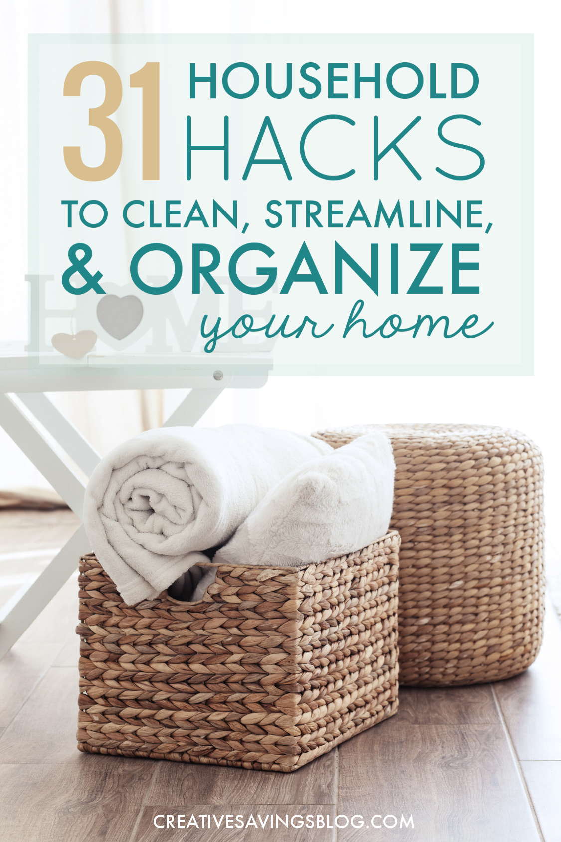 Household hacks to clean streamline organize your home for Household hacks