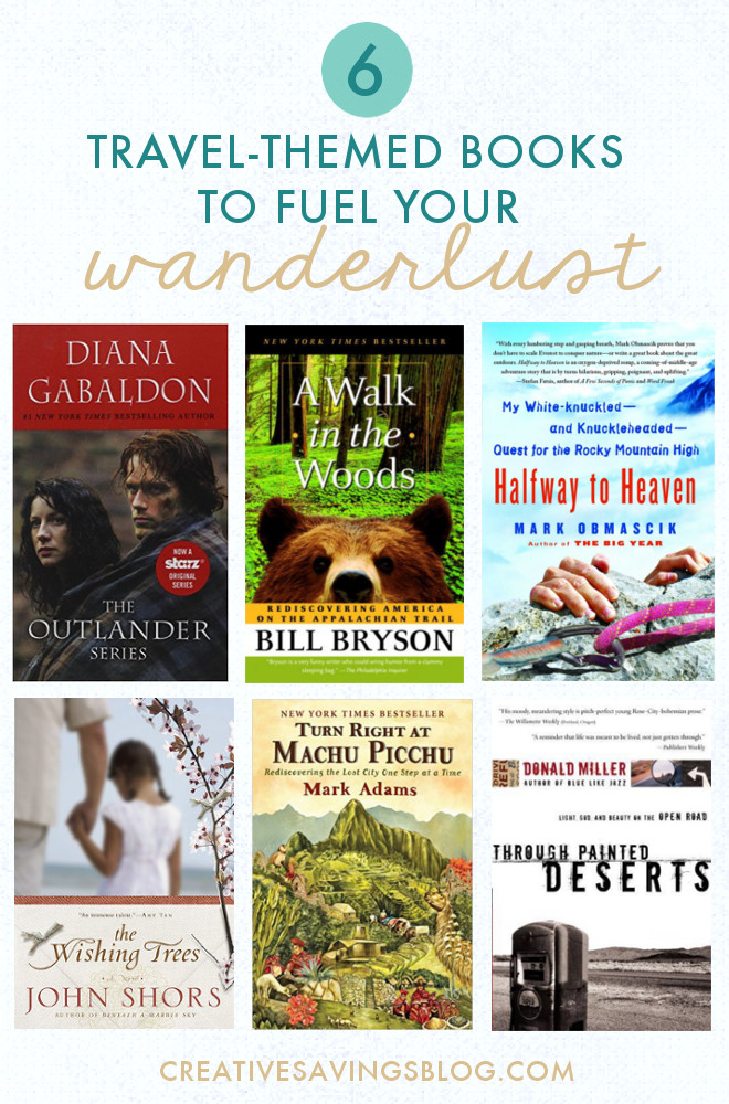 When you can't go on a trip yourself, sometimes the next best thing is to live through a story of someone who already has. These titles are recommended by Creative Savings readers and help calm those travel cravings when you can't afford a trip right now!