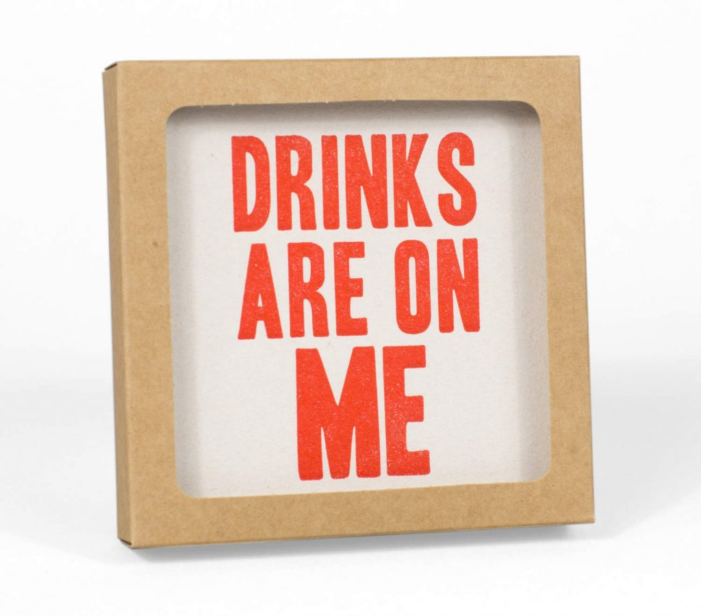 Drinks on Me Coaster Set | Punny Fathers Day Gifts