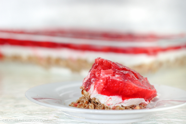 Sweet and Savory Strawberry Pretzel Salad   Creative Savings