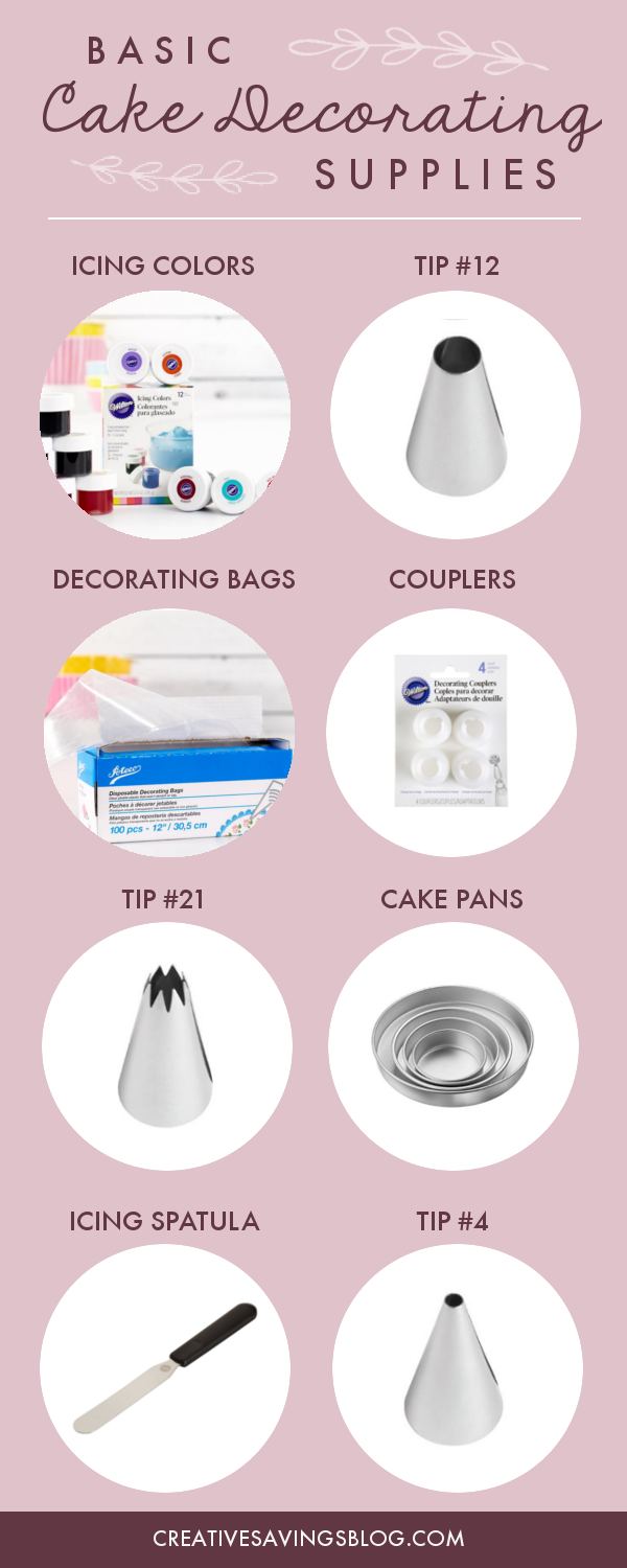 You don't need hundreds of decorating tips and gadgets to make a pretty cake, but there are a few items that make a BIG difference in terms of professionalism. These cake decorating supplies should be in every home decorator's kitchen!
