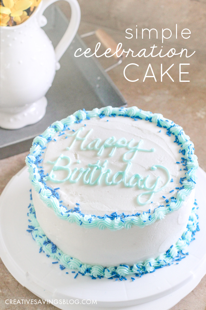 This girl makes decorating a cake look so easy! I'm going to try this instead of buying a sheet cake for my daughter's next birthday party. My biggest takeaway—level your cake BEFORE you decorate!