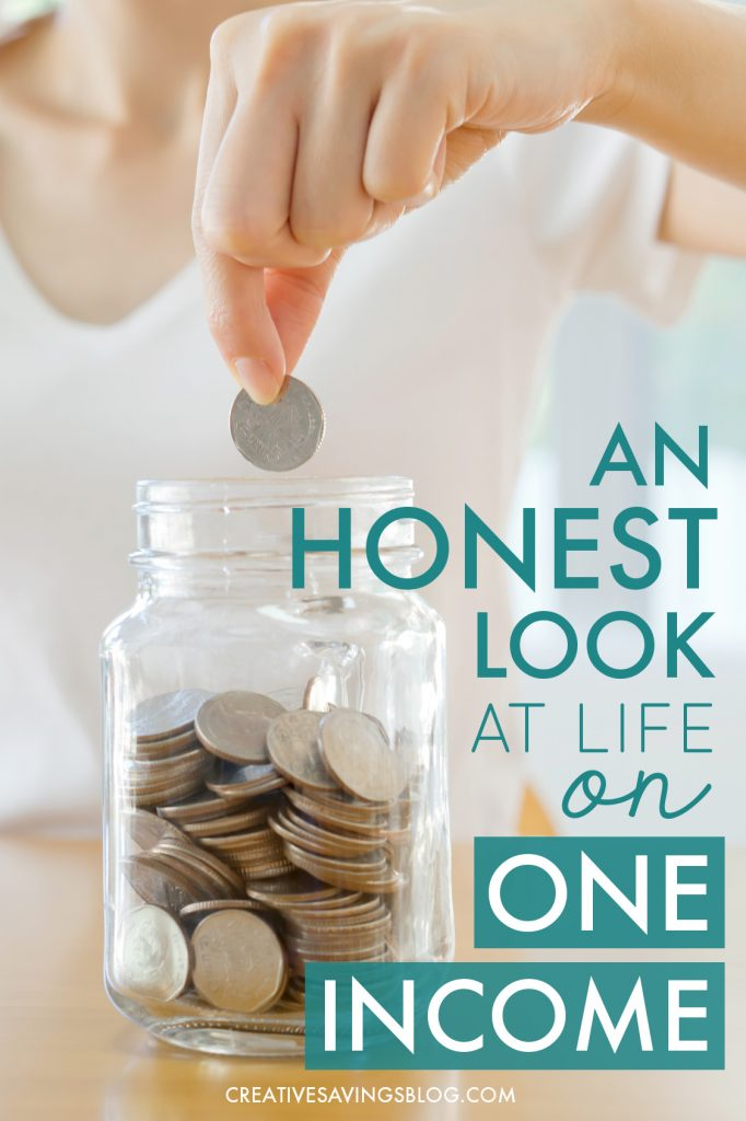 Not sure if you could live on just one income? It's more doable then you might think! This stay-at-home-mom cut her family's income by 48%...and she's THRIVING. You don't want to miss the secrets to her success!