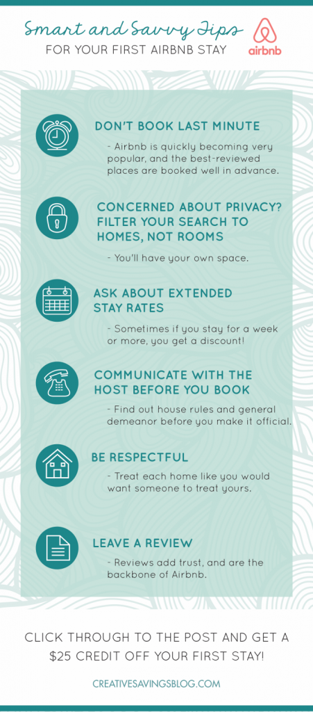 Interested in trying Airbnb? Here's six essential tips to remember for your first stay. Plus, if you click through to the post and book using the link at the bottom, you'll automatically get a $25 credit!