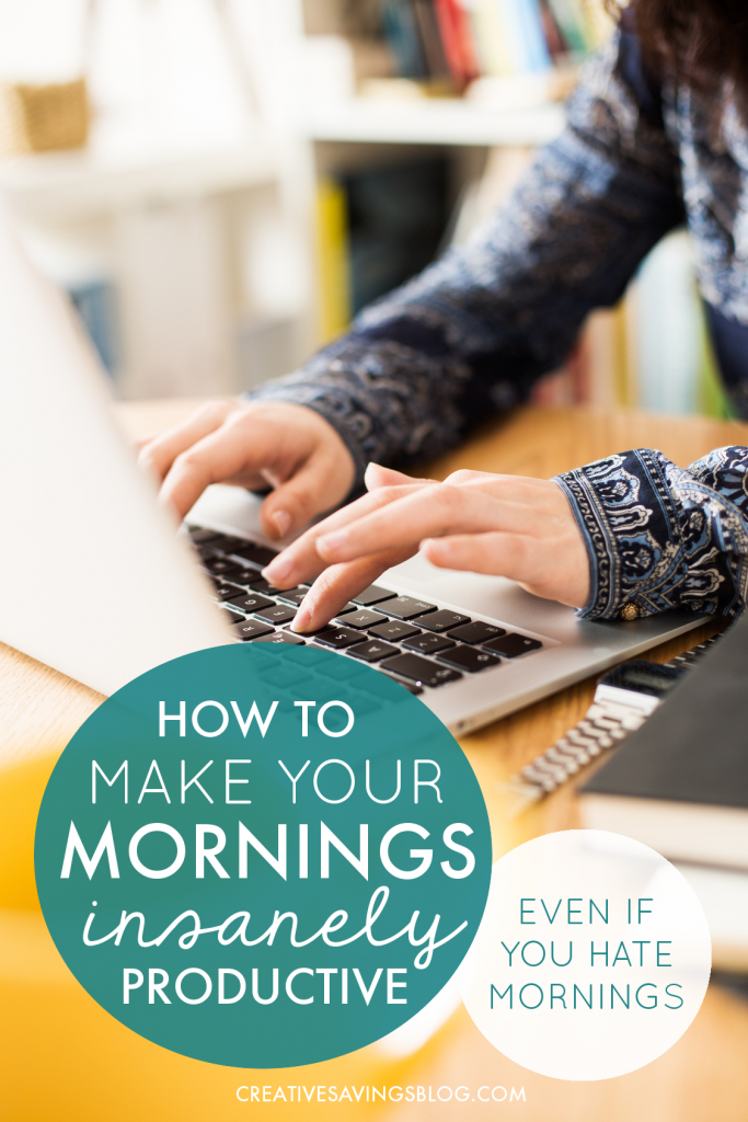 This is exactly what I was looking for! Normally, these posts try to turn me into a morning person, and almost always start with waking up at 5am. That's nice and all but I can't wake up that early!! Can we say zombie until at least 8? Anyway, these tips for getting stuff done in the morning are perfect for anyone, whether you're an early-bird...or night-owl like me.