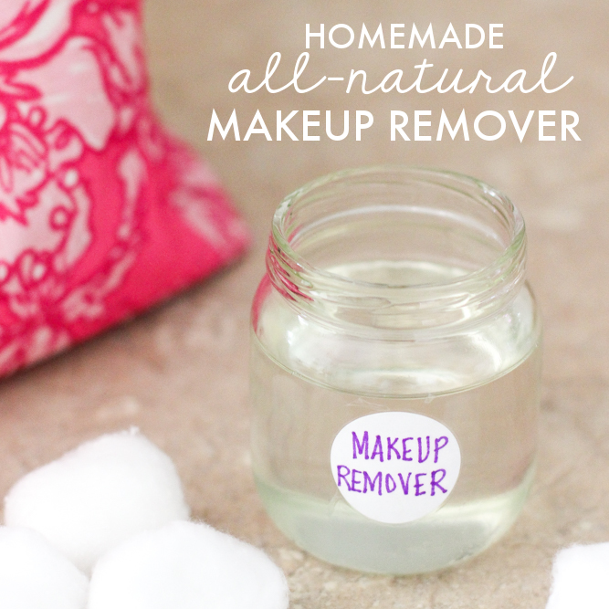 Homemade All-Natural Makeup Remover (Only 3 Ingredients!)