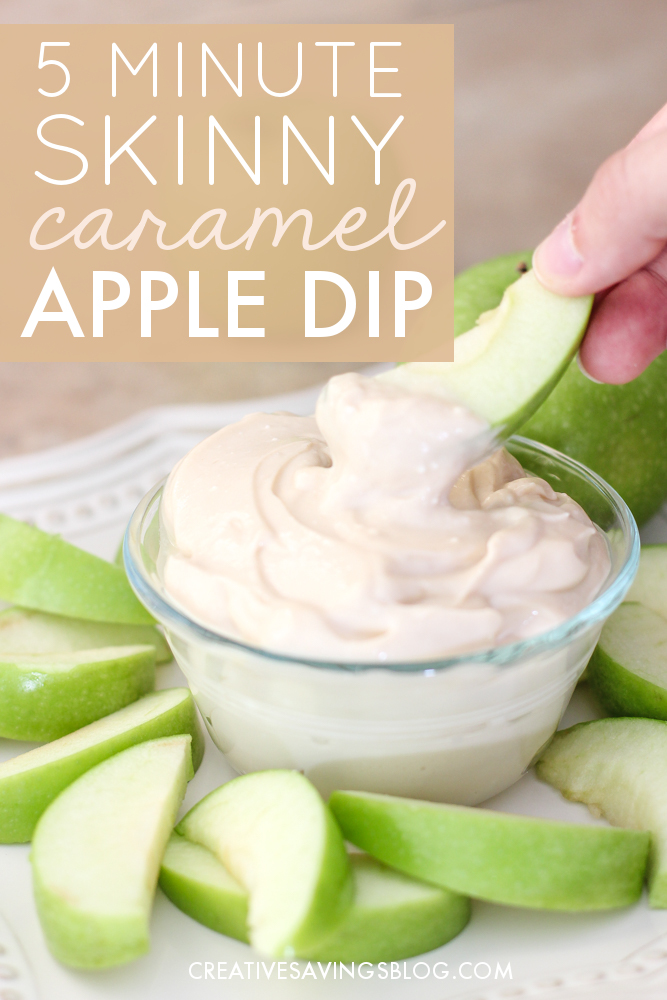 This tasty apple dip recipe comes together in less than 5 minutes! I'll be honest, I was a little skeptical it wouldn't taste all that good, especially since it's made with healthier ingredients, but I seriously can't stay away from this stuff! I'm definitely making this as a snack for next Friday's hangout. #easyappledip #caramelapple #caramelappledip #quickappledip