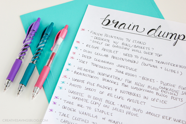 Stop worrying about what needs to get done and make a date with your brain! This post guides you step-by-step through a comprehensive brain dump, and explains the most effective way to organize all that information. Who knew eliminating overwhelm could be so simple?!