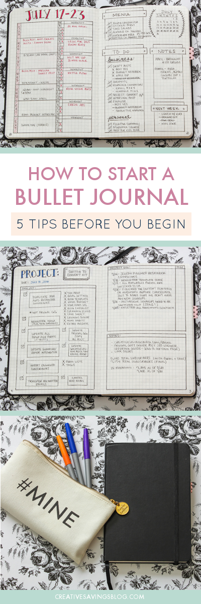 've been wondering how to start a Bullet Journal but didn't know where to begin! Now I know exactly how to put this customizable planner to work for me. This one little book will help me stay organized and skyrocket my personal productivity! #bulletjournaling #bulletjournalingforbeginners #planner