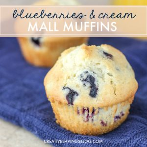 Blueberries-and-Cream Mall Muffins