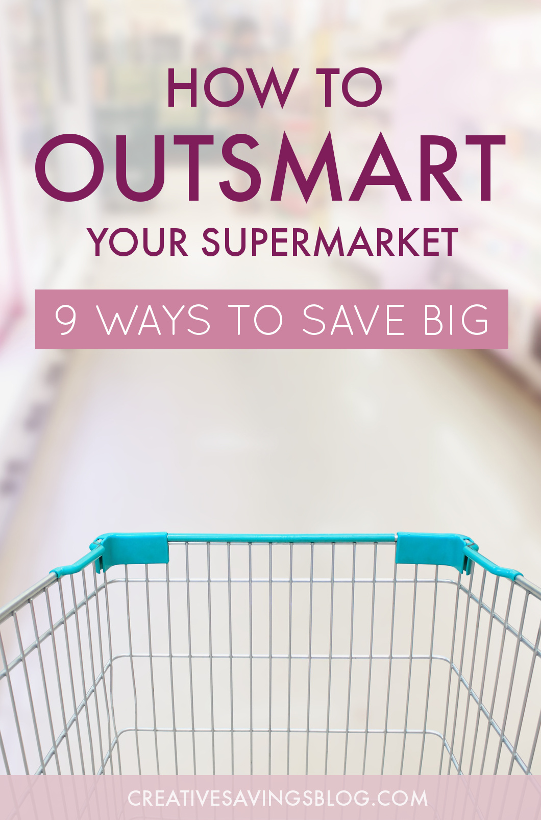 Grocery stores are designed to lure you into spending more than you originally planned. Which means, even if you try to shop smart, they'll use all sorts of tactics to outsmart you! I say it's time to turn the the tables on the grocery store and outsmart them instead. These nine tips explain exactly how to put more money in your pocket, no matter where you shop! #shoppingtips #groceryshopping #groceryshoppinghacks #moneysavingtips