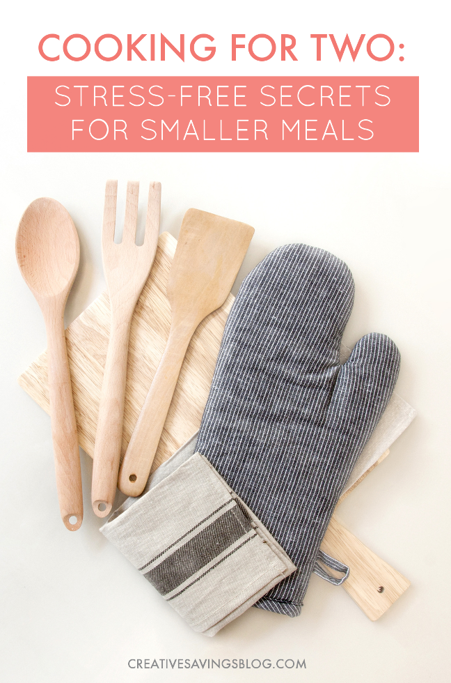 I always have a TON of leftovers when I'm cooking for just the two of us. There's just not a lot of resources for those of us without kids! These 5 tips for cooking for two on a budget are exactly what I needed. Meal planning is a breeze and I'm wasting a lot less food. Yay for saving even more money! #cookingfortwo #easyrecipes #smallermeals #stressfreecooking #newlyweds