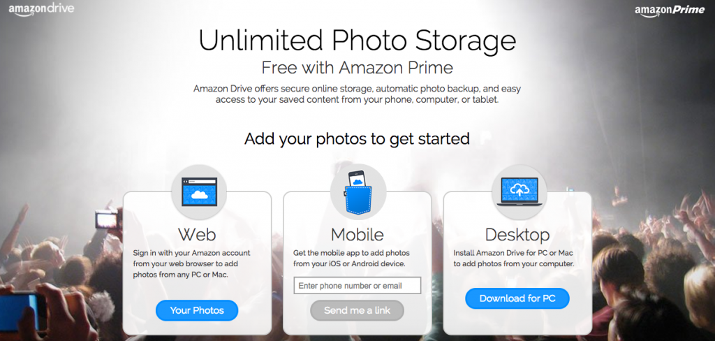 Amazon Drive Photo Storage
