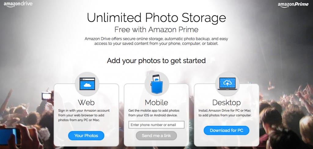 Amazon Drive Photo Storage