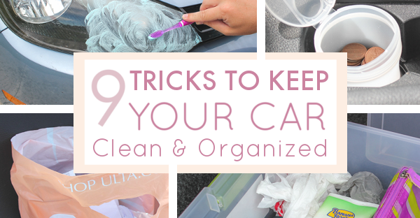 9 foolproof tricks to keep your car clean and organized. Black Bedroom Furniture Sets. Home Design Ideas