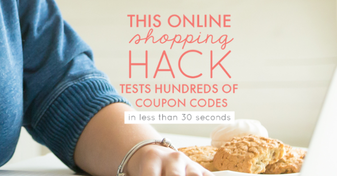 Online shopping coupons hack