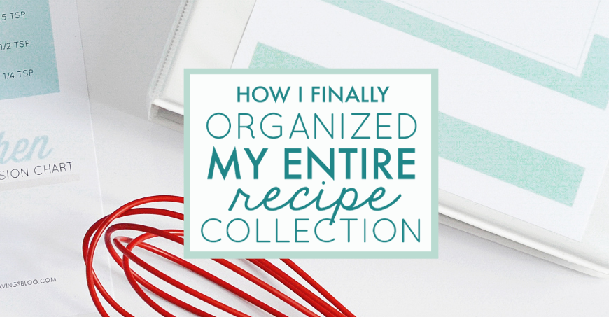 Recipe organization doesn't have to be difficult, or overwhelming. This all-in-one system helps you declutter, organize, and categorize your collection from start to finish!