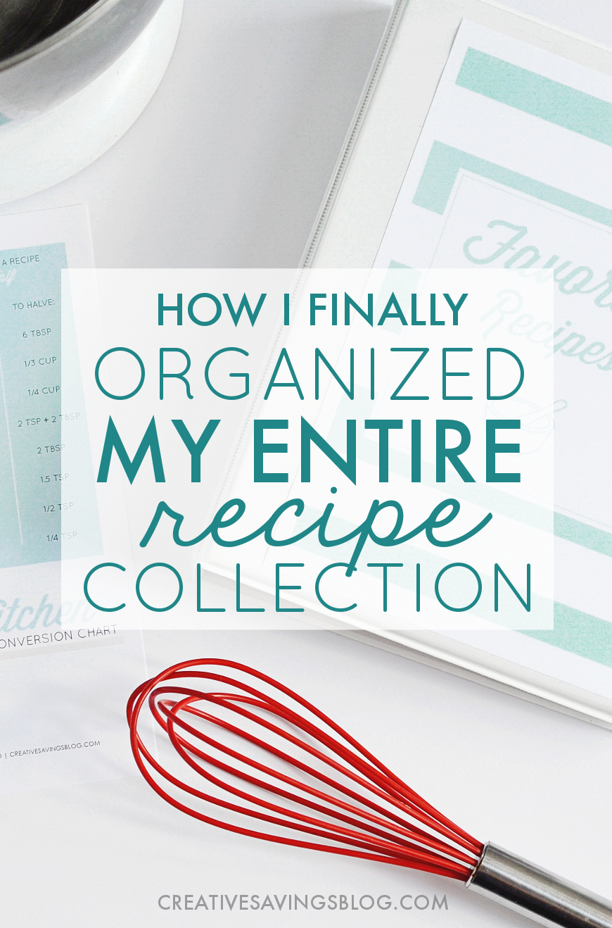The Simple All-In-One Solution for Total Recipe Organization