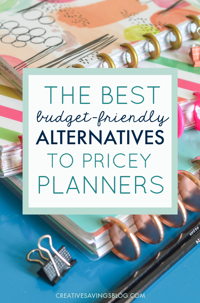 Hate spending $50, $60, or even $80 on a planner? I don't blame you! This collection of cheap planner ideas is the best alternative for your wallet, and still packs a huge productivity punch. Includes FREE planner printables so you can completely customize your own! #freeplannerprintables #planner #dailyplanner