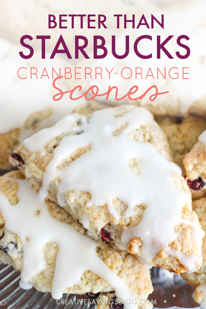 OMG This is the breakfast recipe that I have been looking for!! These taste almost like the Starbucks Cranberry-orange scones... but BETTER! I didn't know that was possible. Starbucks scones are good, but these copycat starbucks scones are just simply amazing! #sconerecipe #copycatrecipe #cranberryorangescone #starbucksscones