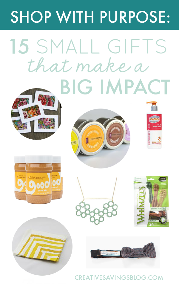 Gifts that give back. These fair trade organizations offer the unique ability to gift and give at the same time, allowing you to participate in sustainable, purposeful shopping. You'll be amazed at what you can score for under $25! #shopwithpurpose #giveback #shopsmall