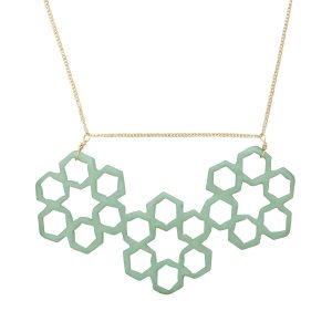 honeycomb-necklace